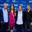 "Cast and crew of ""Gravity,"" from left, director Alfonso Cuaron, actress Sandra Bullock, producer David Heyman and writer Jonas Cuaron pose for a picture during a photo call at the 2013 Toronto International Film Festival in Toronto on Monday, Sept. 9, 2013. (AP Photo/The Canadian Press, Galit Rodan) ORG XMIT: GYR110"
