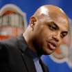 In this Sept. 8, 2006 photo, as a member of the class of 2006 former NBA player Charles Barkley addresses members of the media during a news conference at the Naismith Memorial Basketball Hall of Fame in Springfield, Mass.  (AP Photo/Stephan Savoia)