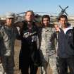 Professional wrestler Jeff Hardy, second from left, poses with Ahmed Abdullah, left, and two other translators in Balad, Iraq.  PROVIDED - Provided