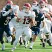 HIGH SCHOOL FOOTBALL PLAYOFFS: Tuttle's #13 Sterling Koons breaks loose on a long run  during their Class 3A semifinal game with Cascia Hall in Yukon, Okla. November 29, 2008.  BY STEVE GOOCH, THE  OKLAHOMAN.  ORG XMIT: KOD