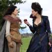 FILE - This publicity photo provided by ABC shows actresses, Ginnifer Goodwin, left, and Lana Parrilla, in a scene from ABC's