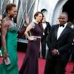 From left, Viola Davis, Maya Rudolph and Julius Tennon arrive before the 84th Academy Awards on Sunday, Feb. 26, 2012, in the Hollywood section of Los Angeles. (AP Photo/Matt Sayles) ORG XMIT: OSC138