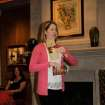 Lindsay Hightower talks at the Junior League sustainer meeting. PHOTO   PROVIDED