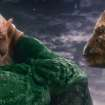 """GL-288C (L-r) Kilowog, voiced by MICHAEL CLARKE DUNCAN, and Tomar-Re, voiced by GEOFFREY RUSH, in Warner Bros. Pictures' action adventure """"GREEN LANTERN,"""" a Warner Bros. Pictures release."""
