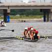 Teams make their way to the starting point at the US Rowing Master Nationals on the Oklahoma River, in the Boat District, Thursday, Aug. 11, 2011.  by Jim Beckel, The Oklahoman.  ORG XMIT: KOD