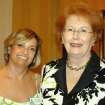 AWARD LUNCHEON....Christina Nihira and Lil Ross were at the luncheon where Ross was given the Junior League Mary Baker Rumsey Lifetime Commitment Award. (Photo provided).