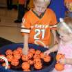 "Jake and Kendal Carey play the ""Pick-A-Pumpkin"" game at the Family Fall Festival and Trunk or Treat event at First Christian Church in Guthrie on Sunday, Oct. 28.  Community Photo By:  Karen Allen  Submitted By:  Karen,"