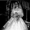 Most brides want their mother to approve the wedding dress they choose and Sally Chesnutt Felts was no exception. The taffeta and Chantilly lace dress Felts wore in 1957 has a touch of the Cinderella gown, which became popular again in the 1950s. Photo provided by Hope Forsyth.  Provided