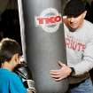 Former junior welterweight champion Micky Ward visited with young boxers, including Eric Moses Puente, 9,  during a promotional appearance at Azteca Gym in south Oklahoma City. Ward's career sparked the Oscar-winning movie