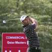 Ricardo Santos of Portugal plays his second shot on the 6 hole during the Second round of the Commercial Bank Qatar Masters held at Doha Golf Club in Qatar, Thursday, Jan. 24, 2013. (AP Photo/Osama Faisal)