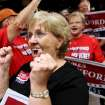 Cheryl Williams, of Edmond, reacts as James Lankford takes the stage to speak to supporters during a watch party at the Oklahoma Sports Hall of Fame in Oklahoma City on Tuesday, August 24, 2010. Photo by John Clanton, The Oklahoman