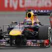 Red Bull driver Sebastian Vettel of Germany steers his car during the Korean Formula One Grand Prix at the Korean International Circuit in Yeongam, South Korea, Sunday, Oct. 6, 2013. (AP Photo/Aaron Favila)
