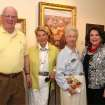 Tom and Noma Sullivan, Charlotte Dodson, Betty Crow enjoy the art at Dodson Galleries. (Photo by David Faytinger).
