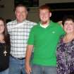 Rattan's Brandon Jones, third from left, with his family: sister Megan, father Andy and mother Karen. PHOTO PROVIDED