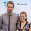 "FILE - This Aug. 19, 2012 file photo shows actors Dax Shepard, left, and Kristen Bell at the 2012 Do Something awards in Santa Monica, Calif. The couple is expecting their first child in late spring, Bell's rep Marcel Pariseau confirms. Shepard, 37, appears on NBC's drama ""Parenthood"" while 32-year-old Bell has a role on Showtime's ""House of Lies"" also starring Don Cheadle. She also narrates ""Gossip Girl"" as the show's title character. They also co-starred in the film ""Hit and Run"" this summer which Shepard also wrote and directed. (Photo by Jordan Strauss/Invision/AP, file)"