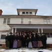 This undated image released by National Geographic Channels shows a Hutterite family in Lewistown, Mont.