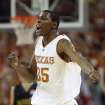 UNIVERSITY OF TEXAS COLLEGE BASKETBALL: Texas' Kevin Durant reacts after hitting a 3-pointer against Baylor during the second half of a basketball game in Austin, Texas, Saturday, Jan. 27, 2007. Texas beat Baylor 84-79. Durant scored 34 points. (AP Photo/Deborah Cannon) ORG XMIT: TXDC103