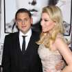 Actors Jonah Hill, left, and Ari Graynor pose at the premiere of their film,