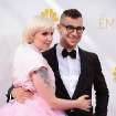 Lena Dunham, left, and Jack Antonoff arrive at the 66th Annual Primetime Emmy Awards at the Nokia Theatre L.A. Live on Monday, Aug. 25, 2014, in Los Angeles. (Photo by Jordan Strauss/Invision/AP)