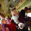 The North Pole Express offers a family-friendly ride on Grapevine's vintage railroad, complete with a visit from Santa. Photo provided.