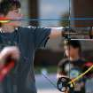 Chad Conner, 8, of Edmond, takes aim during an after school archery class at the at the Edmond Multi-purpose Activity Center at Mitch Park in Edmond on Tuesday, Oct. 11, 2010. Photo by John Clanton, The Oklahoman