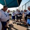 Players of the Oklahoma City Royals pray before beginning a game at the Plex Sports Complex in Oklahoma City, July 5, 2011.  Photo by Garett Fisbeck, The Oklahoman