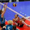 USA / UNITED STATES / U.S./ UNIVERSITY OF CENTRAL OKLAHOMA / WOMEN: Kendra Lancaster lies on her back and watchs the ball she hit. The Sitting Volleyball World Championships took place at UCO on Saturday July 17, 2010. Photo by Mitchell Alcala, The Oklahoman  ORG XMIT: KOD