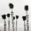 This photo shows Palm trees wrapped in insulation for protection from the sub-freezing temperatures in Tyler, Texas, on Saturday, Dec. 7, 2013. (AP Photo/Dr. Scott M. Lieberman)