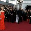 Michelle Williams arrives before the 84th Academy Awards on Sunday, Feb. 26, 2012, in the Hollywood section of Los Angeles. (AP Photo/Matt Sayles) ORG XMIT: OSC162