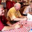 From left, Steve Davis, Jimmy Harris and Claude  Arnold were three of the former OU quarterbacks at Sunday's book signing. Photo provided by Greg Jackson