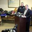 In this Jan. 2, 2013 photo, Hudson Falls Police Detective Scott Gillis talks to the media about evidence seized from a years-long burglary spree during a news conference at Hudson Falls Village Court in Hudson Falls, N.U. Few clues exist pointing to the owners of the roughly 30,000 items discovered after 39-year-old burglary suspect John Suddard's recent arrest. So police are taking the novel step of displaying the items at the local high school Wednesday night, Jan. 9, 2013. (AP Photo/The Post-Star, Derek Pruitt)