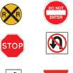 CLIP ART / ROAD SIGNS / BUS SIGNS / RAILROAD CROSSING / DO NOT ENTER / STOP / NO U-TURN / YIELD / SPEED LIMIT 25 / TWENTY-FIVE / LIGHT SIGNAL