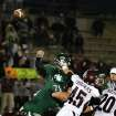 Edmond Santa Fe's quarterback Justice Hansen releases the ball for a 26 yard touchdown pass during the Edmond Santa Fe - Jenks game at UCO's Wantland Stadium in Edmond, Friday, November 18, 2011. PHOTO BY HUGH SCOTT, FOR THE OKLAHOMAN