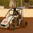 Seth Brown races during the annual Mini-Sprint Summer Nationals at I-44 Riverside Speedway in Oklahoma City