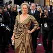 Meryl Streep arrives before the 84th Academy Awards on Sunday, Feb. 26, 2012, in the Hollywood section of Los Angeles. (AP Photo/Chris Pizzello) ORG XMIT: OSC273