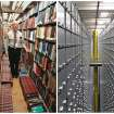 This combination of Associated Press file photos shows Steven Herman, left, head of the Library of Congress storage facility, at the Library of Congress in 2003, in Washington,  and left, a