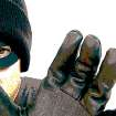 AVOID ONLINE FRAUD / FRAUDULENT E-MAILS / SCAMS / THIEF / MASKED ROBBER / CLIP ART