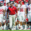 OU: University of Oklahoma coach Bob Stoops yells toward the field during the first half of an NCAA college football game against University of Texas in Dallas, Saturday, Oct. 17 2009. (AP Photo/Donna McWilliam) ORG XMIT: TXDM104 ORG XMIT: OKC0910171344328657 ORG XMIT: 0911102235311826