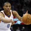 OKLAHOMA CITY THUNDER / NEW YORK KNICKS / NBA BASKETBALL  Oklahoma City Thunder guard Russell Westbrook during the Thunder - Knicks game January 11, 2010 in the Ford Center in Oklahoma City.    BY HUGH SCOTT, THE OKLAHOMAN ORG XMIT: KOD