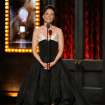 Lucy Liu speaks on stage at the 68th annual Tony Awards at Radio City Music Hall on Sunday, June 8, 2014, in New York. (Photo by Evan Agostini/Invision/AP)
