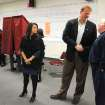 U.S. Congressman Jon Runyan shakes hands with a voter as his wife Loretta left, at the Mount Laurel Fire Station on Tuesday, Nov. 6, 2012. Runyan voted at the fire station. Runyan is running against challenger Shelley Adler. (AP Photo/Burlington County Times, Dennis McDonald ) PHILLY METRO OUT; PHILADELPHIA INQUIRER OUT; AND CAMDEN COURIER POST OUT.