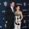 Channing Tatum, left, and Jenna Dewan arrive at the 15th annual InStyle and Warner Bros. Golden Globes after party at the Beverly Hilton Hotel on Sunday, Jan. 12, 2014, in Beverly Hills, Calif. (Photo by Matt Sayles/Invision/AP)