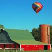 Hot Air Balloon Floats Over the Briscoe Farm in NW OKC.  Community Photo By:  Michael Gross  Submitted By:  Michael, Oklahoma City