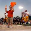 Preston Lewis, 3, makes use of the broadjump pit before the Norman North  Putnam City North football game at Harve Collins Field in Norman, Oklahoma on Friday, September 26, 2008.    BY STEVE SISNEY, THE OKLAHOMAN