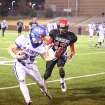 Oklahoma Christian School's Luke Frankfurt, left, carries the ball as Frederick's Aaron Nolan defends during Friday's Class 2A state semifinal in Weatherford on Nov. 30, 2012. PHOTO BY BRANDON NERIS, THE LAWTON CONSTITUTION