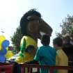 Buddy Broncho enjoying the Goddard Schools float in the UCO Homecoming Parade.  Community Photo By:  Meagan Moore  Submitted By:  Meagan, Yukon