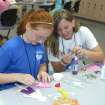 Maleah Hodge and Casey Paltillo work together to create activities in Babysitter Boot Camp at Francis Tuttle's SummerQuest.  Community Photo By:  Jeff Knapp  Submitted By:  Jeff, Oklahoma City