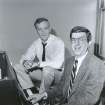 FILE - This Sept. 9, 1986 file photo shows composer Marvin Hamlisch, right, at the piano with lyricist Howard Ashman in New York. Hamlisch, a conductor and award-winning composer best known for the torch song