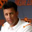 OKLAHOMA STATE UNIVERSITY / OSU / COLLEGE FOOTBALL: Oklahoma State head coach Mike Gundy speaks to the media at Oklahoma State University in Stillwater, Okla.,  on Saturday, August 8, 2009. By John Clanton, The Oklahoman ORG XMIT: KOD