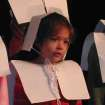 Ariel Rodriquez, a Kindergarten student of Oklahoma Christian Academy, reflects on the Pilgrim's voyage during a Thanksgiving play.  Community Photo By:  Nyla Hackett  Submitted By:  Nyla, Edmond